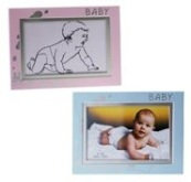 Photo Frame Aluminium - Baby - Availble in Blue or Pink