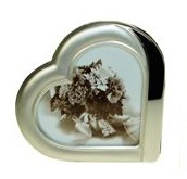Heart Picture Frame - Matt Silver