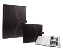 Leather Picture Album - 200 Photos - white Pages