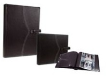 Leather Picture Album - 200 Photos - Black Pages