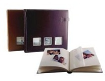 Freemount Leather Picture Album - 3 Windows- Available in Burgan