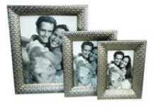 Pewter Plated Embossed Steel Picture Frame (8 * 10 inch)