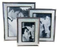 Black Aluminium With Studs Photo Frame (6 * 8 inch)