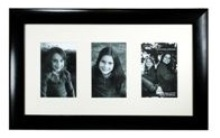 Black Wooden Photo Frame - 3 Windows (4 * 6 inch)