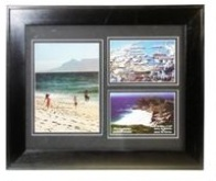 Black Wooden Photo Frame - 3 Windows
