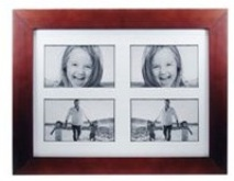 Burgandy Wooden Photo Frame - 4 windows (4 * 6 inch)