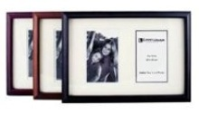 2 Window Raised Wooden Picture Frame - Available in Burgandy, Li