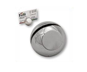 "SILVER BUSINESS CARD HOLDER ""FOOTBALL"""