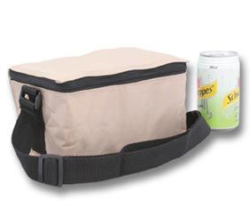 6 PACK COOLER PACK BEIGE (Also avail in black)