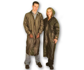 UNISEX DELUXE RAINCOAT - 1 SIZE FITS ALL