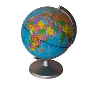 Executive Desk Globe. Blue World Globe on Grey Base
