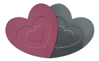 One Size Hearts Coaster Single - Avail In: Aluminium, Pink, Red,