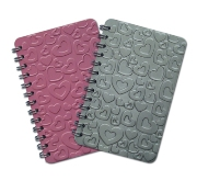 A7 Hearts Pocket Telbook - Avail In: Aluminium, Pink, Red, White