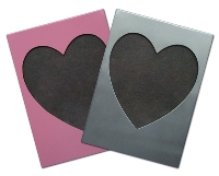 Medium Hearts Frame - 200X150Mm - Avail In: Aluminium, Pink, Red