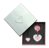 One Size Hearts Keytag & Cellphone Tag Set - Avail In: Aluminium