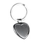 Heart-gift keyring in heart shape, ideal for engraving - metal