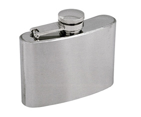 Stainless Steel Hip Flask With Capti