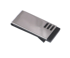 "Black and Silver ""Fancy\"" Money Clip"