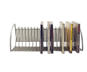Silver Mesh Cd Rack Holds 20 Cd\'S W/