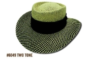Two Tone Straw Golf Hat