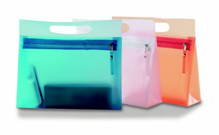 TRANSPARENT VANITY CASE - ASSORTED COLOURS
