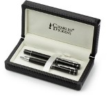 Charles Dickens pen set, consisting of a ballpen and rollerpen w