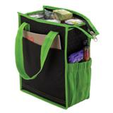 Striped Lunch Sack Cooler - Non-Woven/Foil Lining - Green