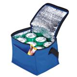 6-Can Cooler With Foil Liner & Pocket - Non-Woven/Foil Lining -