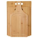 3pc Bamboo Cutting Board Set - Available in: Bamboo