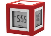 Lexon Cubissimo Clock - Available: green, grey, prussian blue, v