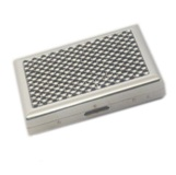 Cigarette Case - White & Black Gems