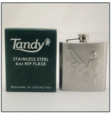 Hip Flask 6 oz - Fishing Detail