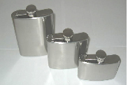 Hipflask - Stainless Steel 3Oz Single