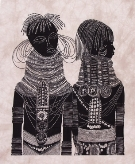 Two Turkana girls Heidi Lange Prints