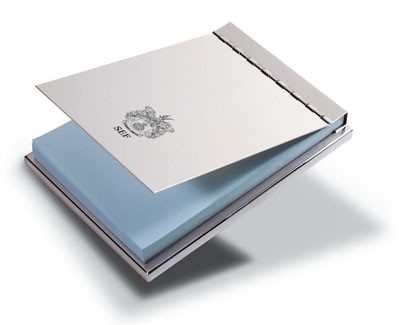 Silver plated note pad