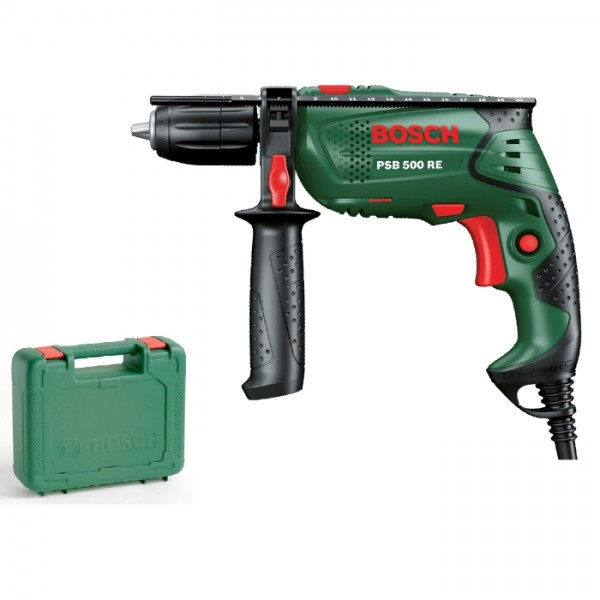 bosch impact drill psb 500 re compact 500 w 10 8 25 masonry s bosch005 by bosch perkal. Black Bedroom Furniture Sets. Home Design Ideas