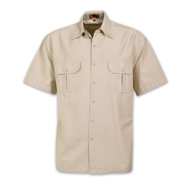 Mens Heavy Duty Bush Shirt Avail In Khaki Stone Dark
