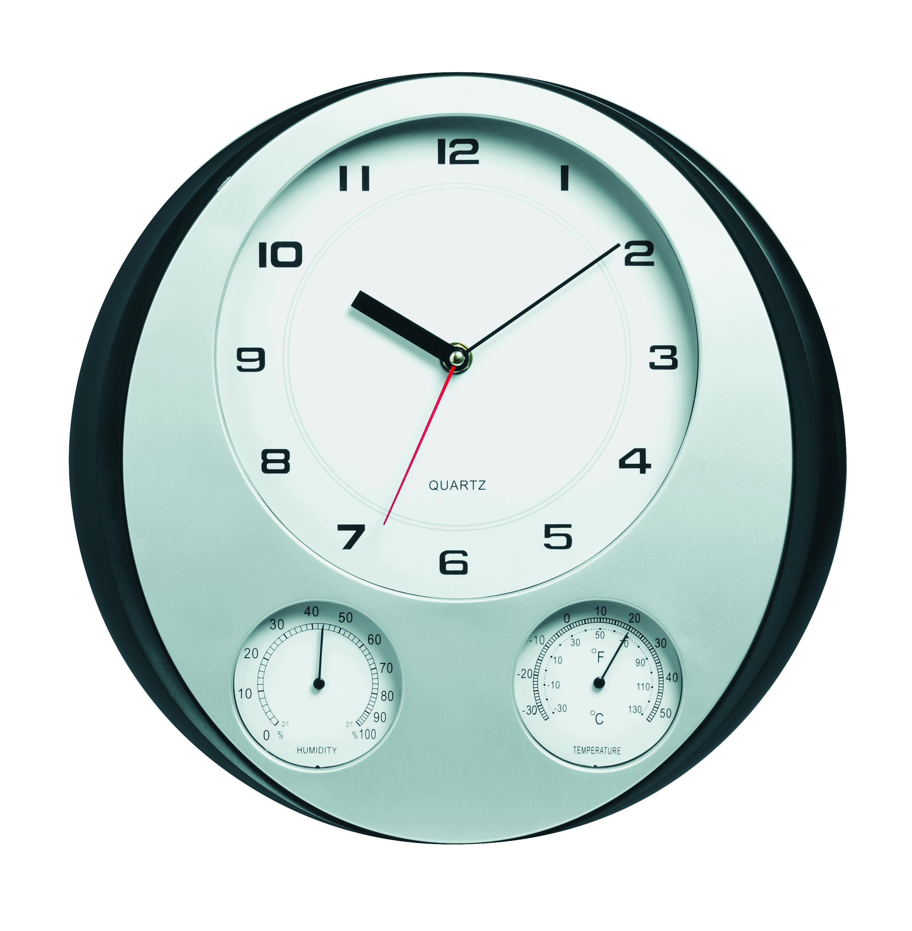 sunbeam wall clock humidity temperature