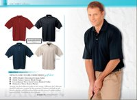 140G Mens Classic Double MercerisedMercerised Cotton Golf Shirt
