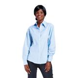 Ladies Chambray Long Sleeve Blouse (100% Cotton)