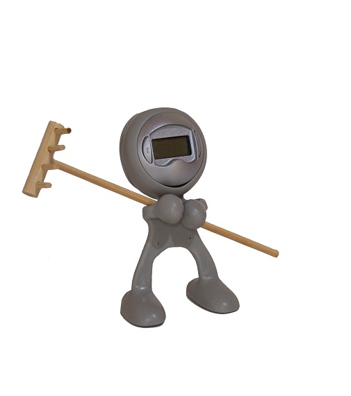 Bendable Clock Man - Desk Alarm clock & memo holder