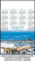 Jumbo Single Sheet Poster Calender - Motivation (Polar Bear)