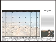 Soft Touch Desk Planner - Scenic