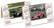 Desktop Calender -  Desk Triangle - Formula 1