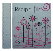 A4 Kitchen Tea Recipe File With Dividers - Avail In: Aluminium W